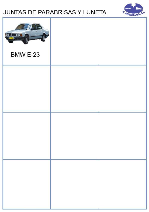 celdas juntas parabrisas y luneta BMW
