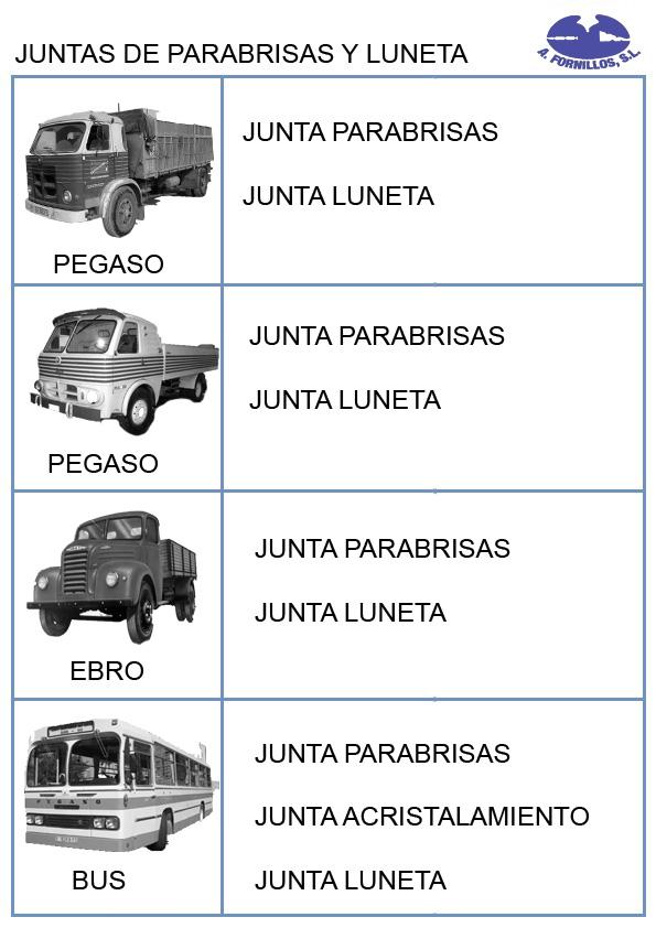 parabrisas y luneta bus